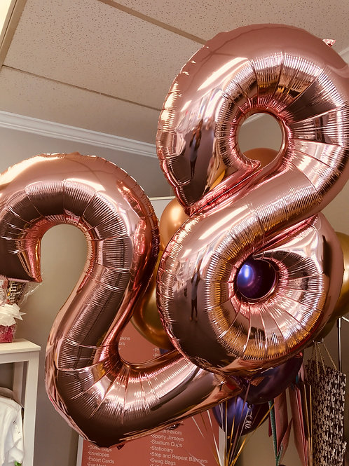 Numbered Foil Balloons - 8 Colors!