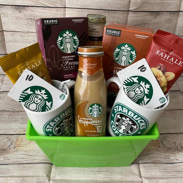 #12| Starbucks Coffee & Gift Cards Basket