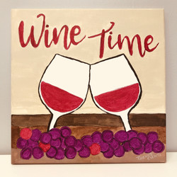 Sip and Paint Wine Painting