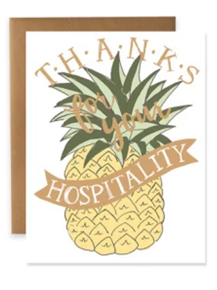 Thanks for Your Hospitality Greeting Card