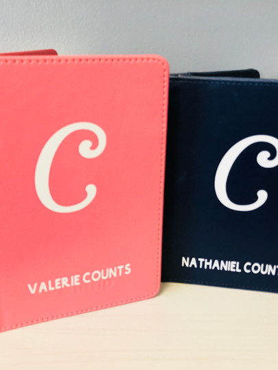 His and Hers Passport Holders