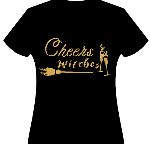 Cheers Witches Halloween Ladies Tee (2 Designs)