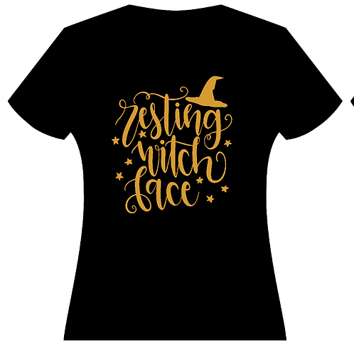 Resting Witch Face Ladies T-Shirt (2 Colors)