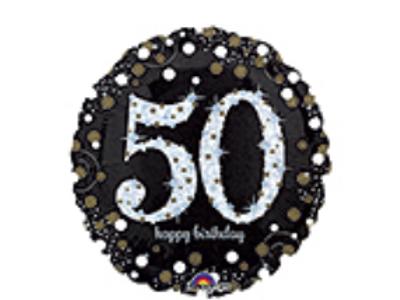 Happy 50th Birthday Birthday Holographic Foil Balloon
