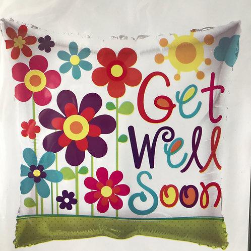 """""""Get Well Soon"""" Flower Balloon"""