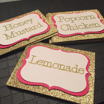 Handmade Food Signs for Buffet