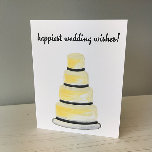 Happiest Wedding Wishes Greeting Card