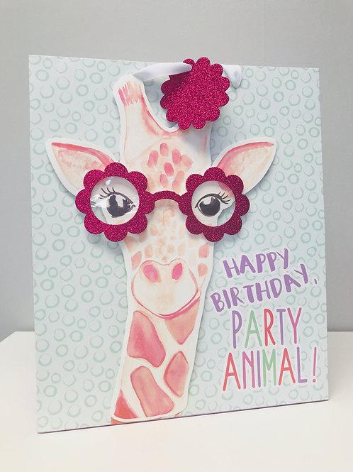 Medium Giraffe Party Animal Gift Bag