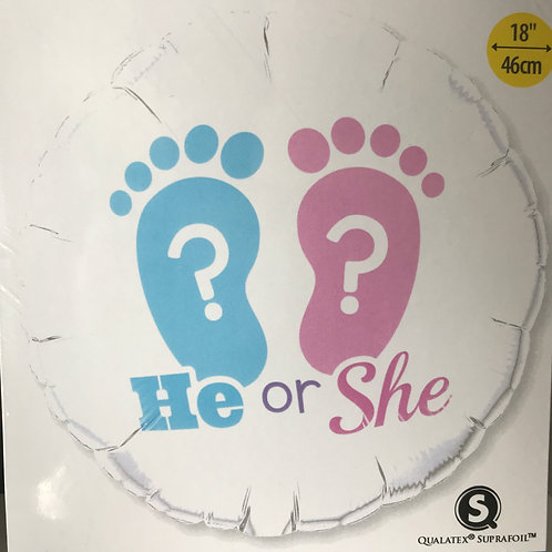 """He or She"" Gender Reveal Balloon"