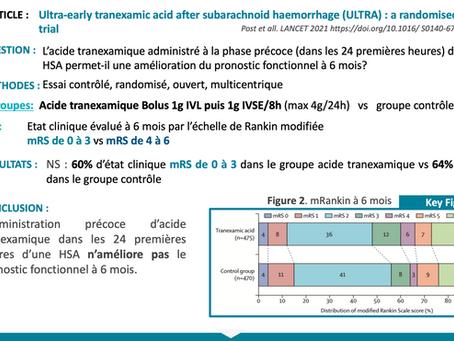 Ultra early acid tramexamic