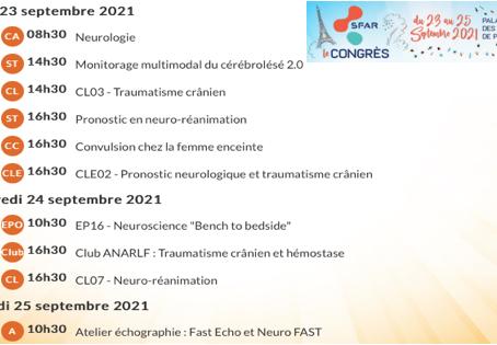Parcours Neurosciences au congrès SFAR 2021