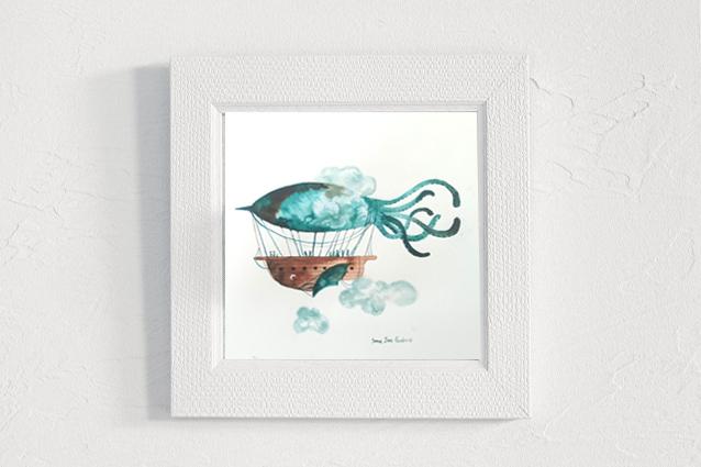 Tinta zeppelin calamar.