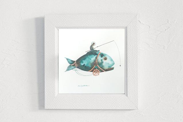 Tina humano en pez.