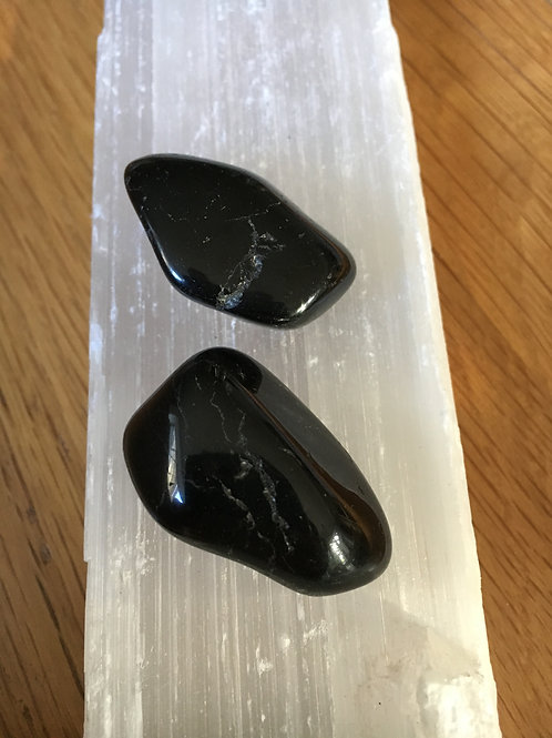 Black Tourmaline polished tumble stones