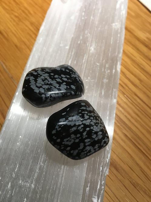 Snowflake Obsidian Tumble stones small
