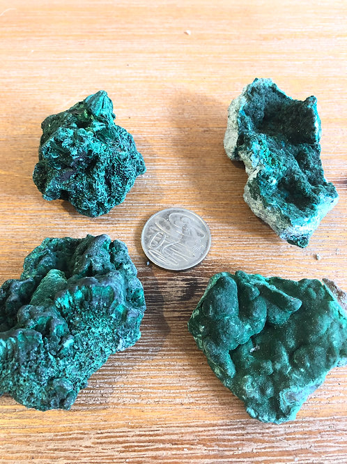 Malachite specimen pieces