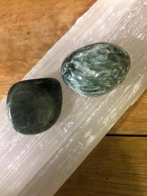 Seraphinite Tumble Stones