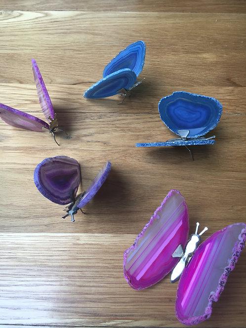 Agate Butterflies (various colours)