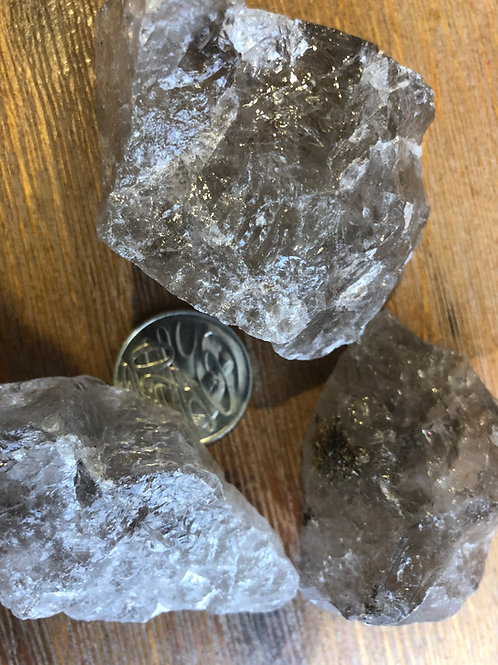 Smoky Quartz - natural pieces from Broken Hill