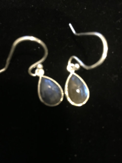 Labradorite Teardrop Sterling Silver Ear-rings