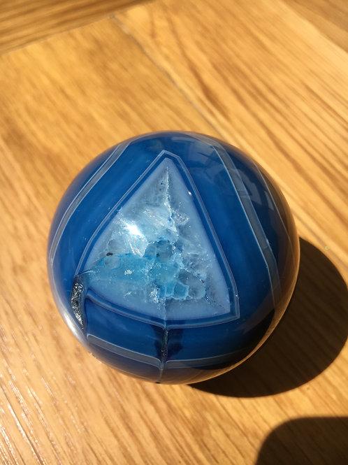 Agate (Blue) Sphere 6 cm
