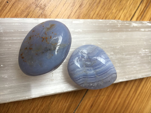 Blue Lace Agate Tumble Stones large