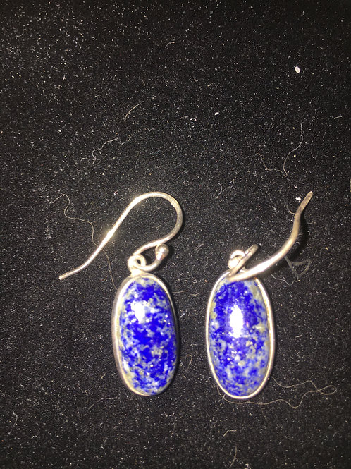 copy of Blue Lace Agate Large Oval Sterling Silver Ear-rings