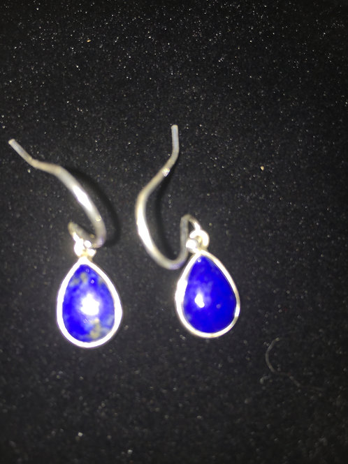 Lapis Lazuli Teardrop Sterling Silver Ear-rings