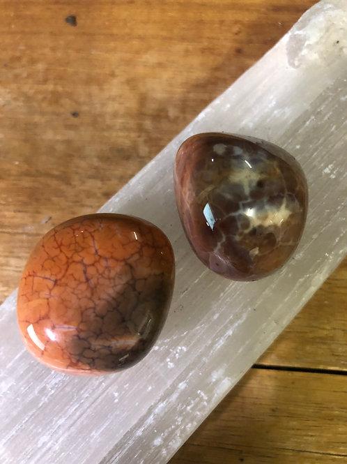 Fire Agate Polished Tumble Stones