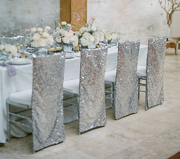 Sequin Chiavari Chair Back Slip Cover | Unforgettable Events
