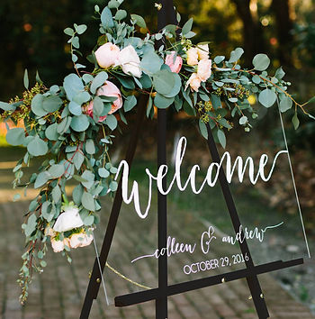 Welcome sign | Unforgettable Events