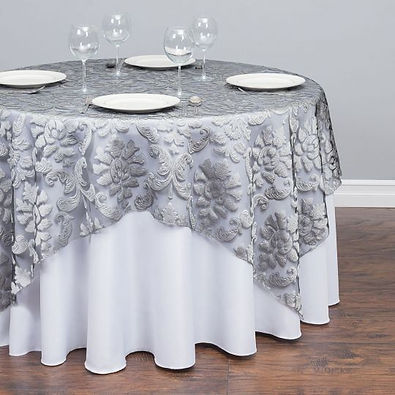 Grey Floral Overlay Rental | Unforgettable Events