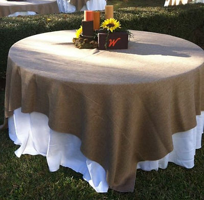 Burlap overlay rental | Unforgettable Events