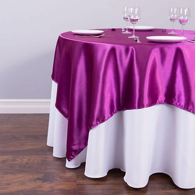 Pink Satin Overlay Rental | Unforgettable Events