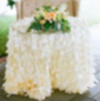 Petal Tablecloth   Unforgettable Events