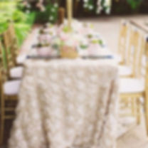 Rosette Tablecloth   Unforgettable Events