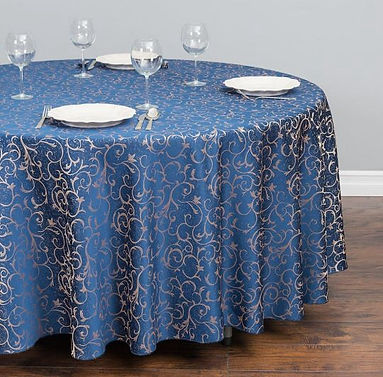 Jacquard Scrollwork tablecloth | Unforgettable Events