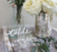 Table numbering | Unforgettable Events