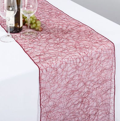 Red Web Organza Table Runner | Unforgettable Events