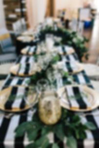 Striped Satin Tablecloth   Unforgettable Events