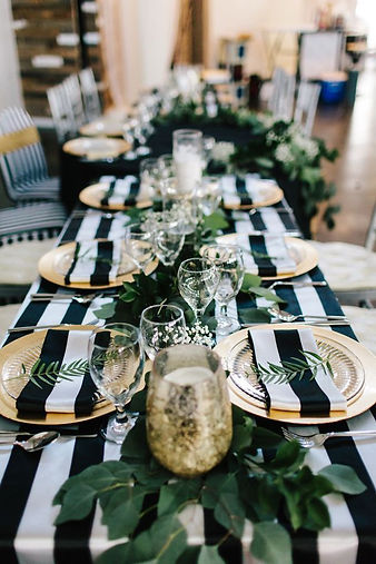Striped Satin Tablecloth | Unforgettable Events