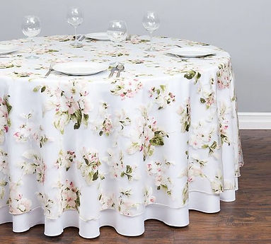 sheer cherry blossom tablecloth | Unforgettable Events