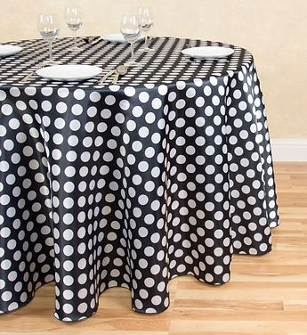 Polka Dot Satin tablecloth | Unforgettable Events