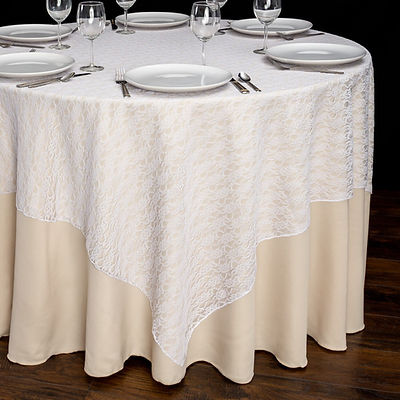 White Lace Overlay Rental | Unforgettable Events
