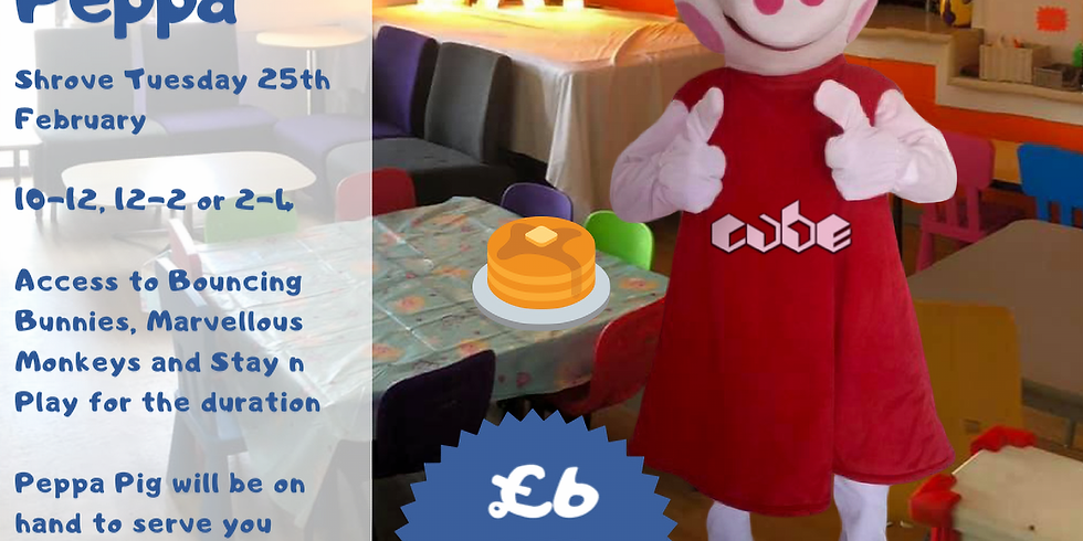 Pancakes with Peppa (Tues 25th 12pm-2pm)