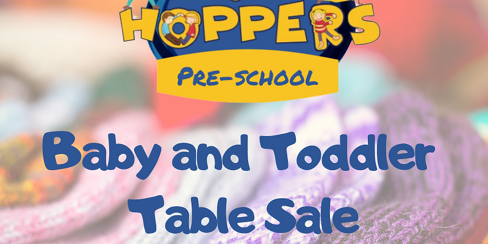 Baby and Toddler Table Sale