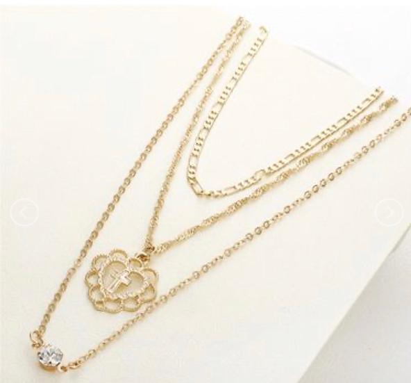 Layered Religious Necklace Set