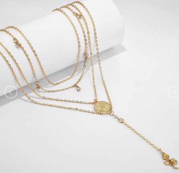 Rose Layered Necklace