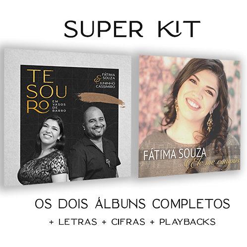 Super KIT - 2 Álbuns Digitais+Playbacks+Letras+Cifras