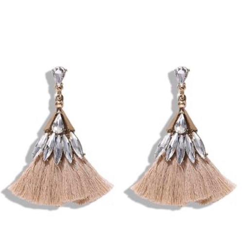 Studded Tassel Earrings